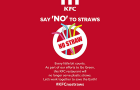 Following a global trend, KFC Singapore officially ditches plastic caps and straws